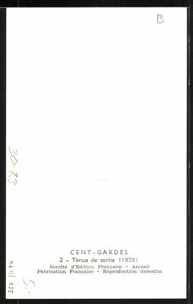 Künstler-AK Cent Gardes, Tenue de sortie 1858 1