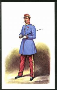 Künstler-AK Cent Gardes, Officier, Tenue du matin 1860