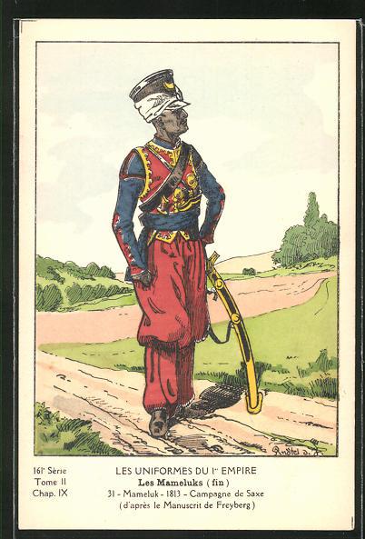 Künstler-AK Les Uniformes du 1er Empire, Les Mameluks
