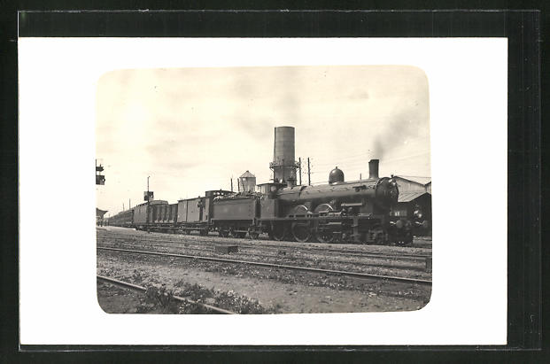 AK Englische Güterzug-Eisenbahn-Lokomotive 0