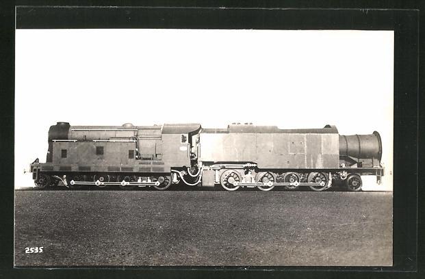 AK Blick auf eine englische Eisenbahn-Lokomotive 0