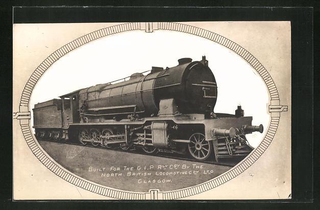 AK Englische Eisenbahn-Lokomotive, North British Locomotive Cov. Ltd. Glasgow 0