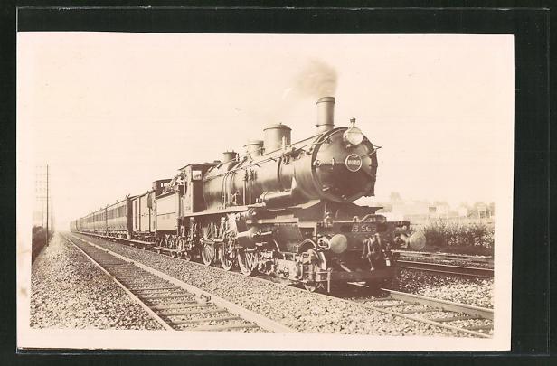 AK Englische Eisenbahn auf gerader Strecke 0