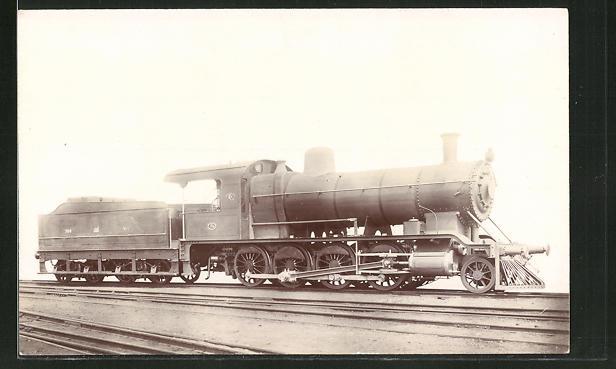 AK Englische Eisenbahn-Lokomotive mit Tender