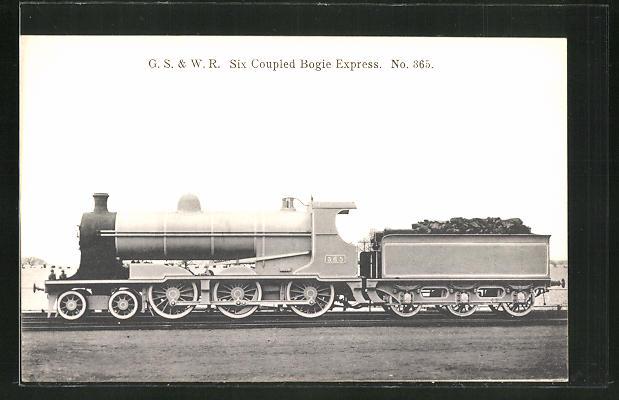 AK G.S. & W.R. Six Coupled Bogie Express No. 365, englische Eisenbahn