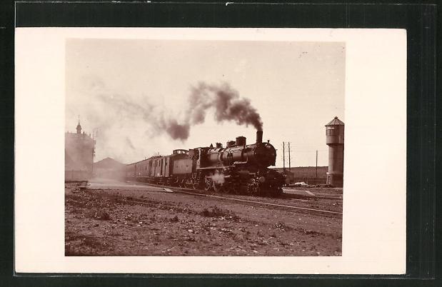 AK Englische Eisenbahn unter Volldampf