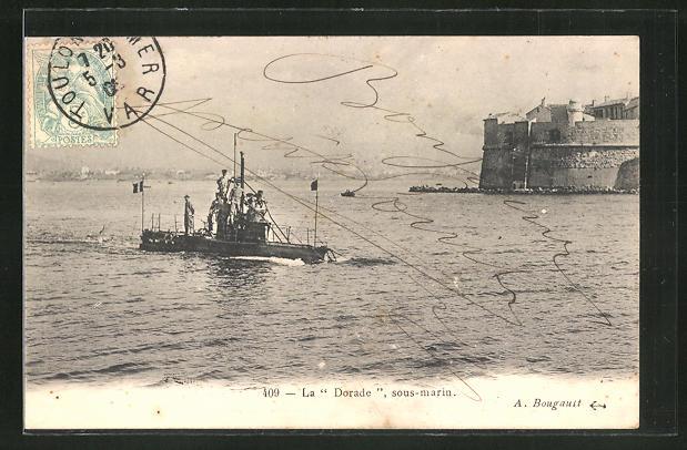 AK Französisches U-Boot
