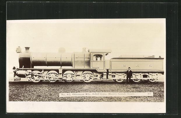 AK Eisenbahn-Lokomotive No. 82 der Ottoman Railways 0