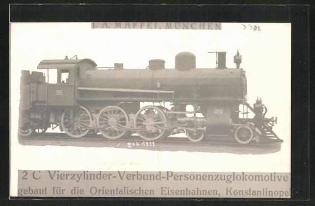 AK Lokomotive der Orientalischen Eisenbahnen, Konstantinopel 0