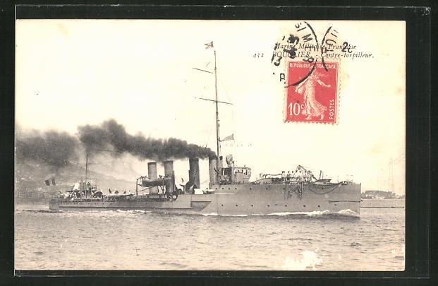 AK Marine Militaire Francaise, Contre-Torpilleur Bouclier, Kriegsschiff 0