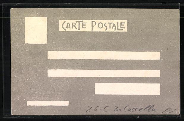 Künstler-AK sign. B. Cascella: Marinaio di Orlona, Seemann im Portrait 1