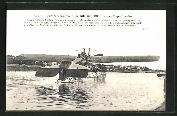 AK Hydroaéroplane I. de Brouckere, Wasserflugzeug 0