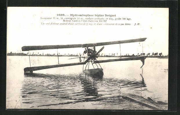 AK Hydroaerolane biplan Bréguet 0