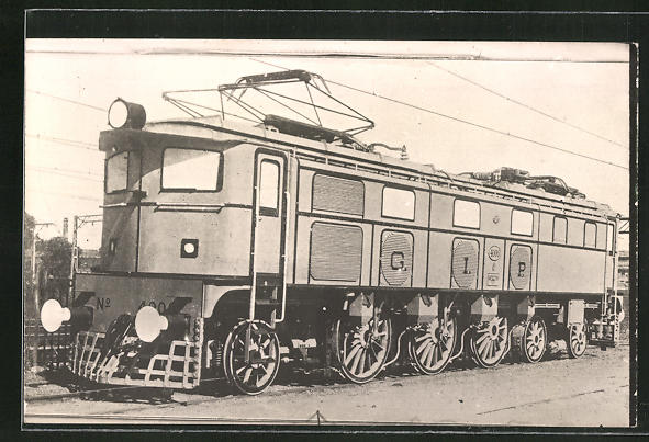 AK Lokomotive der Firma G. I. P. im Bahnhof stehend