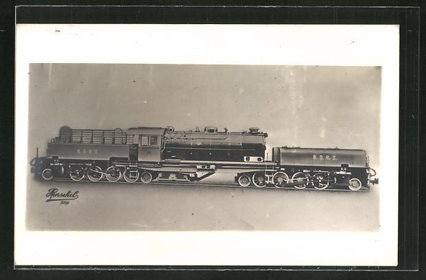 AK Lokomotive der Firma Henschel, R. S. R. S.