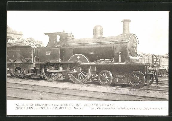 AK Lokomotive, new compound Eypress Engine, Midland Railway 0