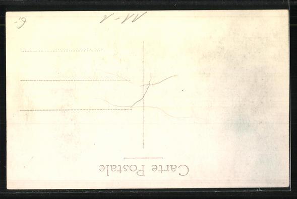 AK Lokomotive Nr. 088 und Waggons im Bahnhof 1