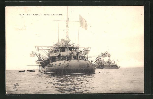 AK Kriegsschiff, Le Carnot cuirassé d'escadre 0