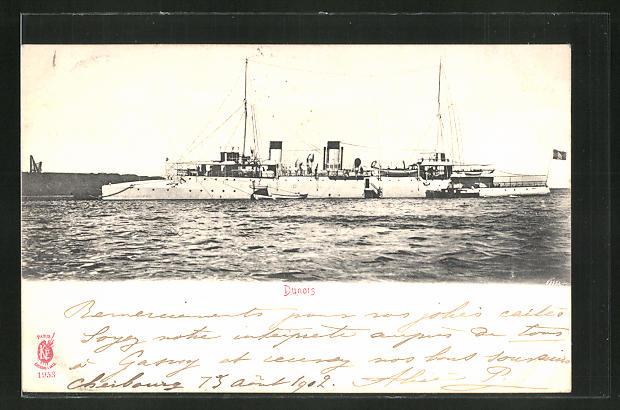 AK Kriegsschiff Dunois auf hoher See 0