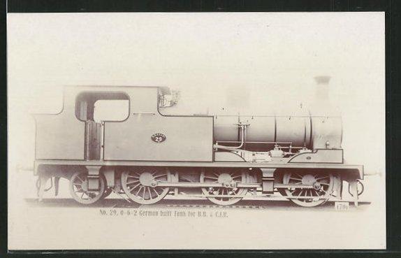 AK englische Eisenbahn No. 26, 0-6-2 German built Tank for B. B. & C. I. R. 0