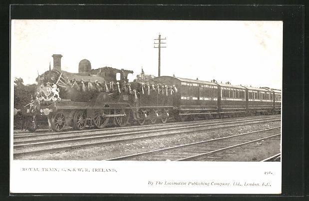 AK englische Eisenbahn, Royal Train, G. S. & W. R. Ireland