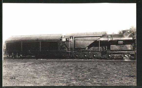AK englische Eisenbahn mit Lokführern 0