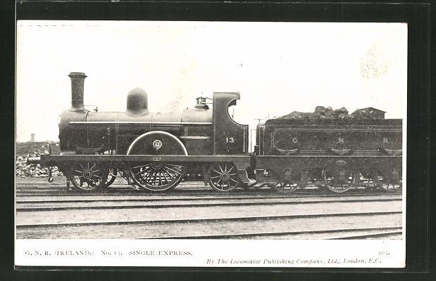 AK G. N. R. Ireland, Single Express No. 13, englische Eisenbahn 0