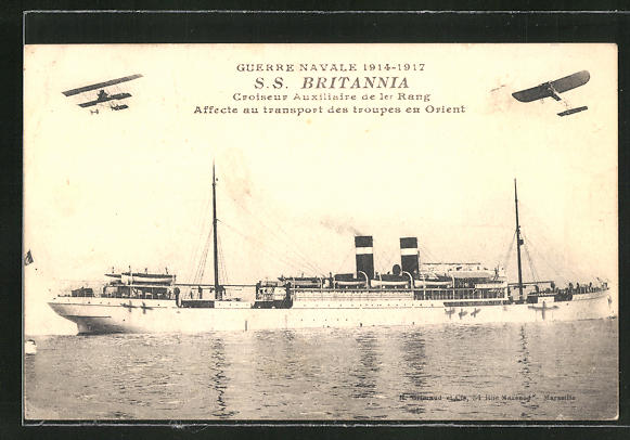 AK Guerre Navale 1914-1917, S. S.