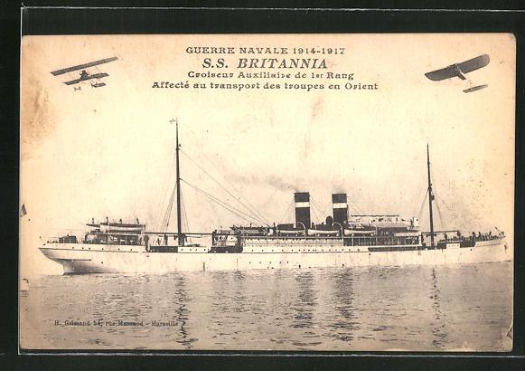 AK Guerre Navale 1914-1918, S. S.