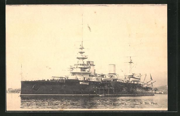 AK Kriegsschiff; Bouvet. Cuirasse a tourelles, Marine Militaire Francaise 0