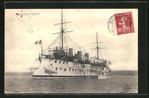 AK Croiseur Fraint, Kriegsschiff auf hoher See 0