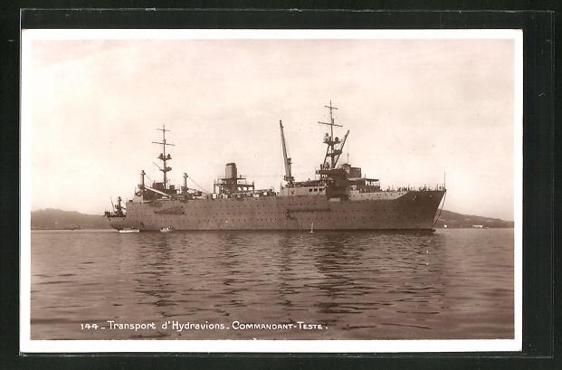 AK Transport d'Hydravions Commandant-Teste, Kriegsschiff 0