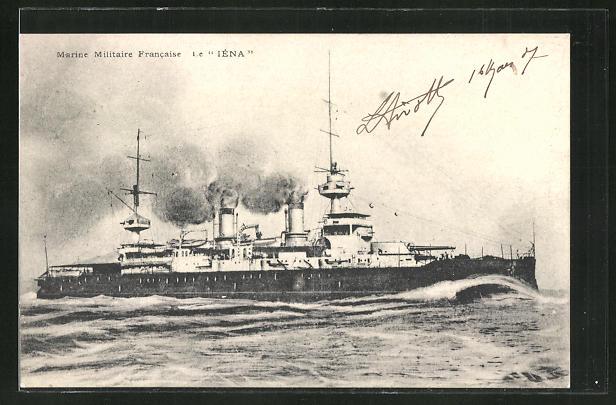 AK Marine Militaire Francaise, Kriegsschiff le