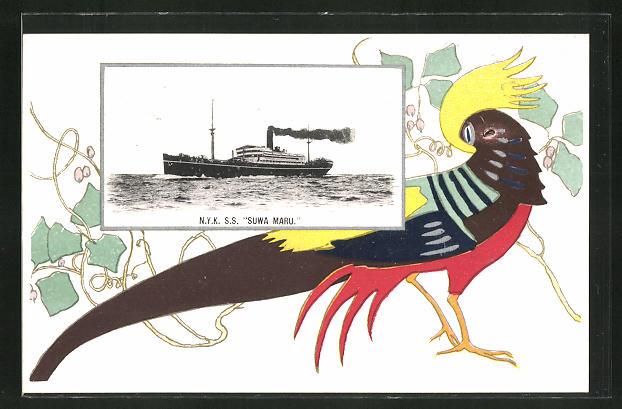 Künstler-AK Passagierschiff N.Y.K. S. S.