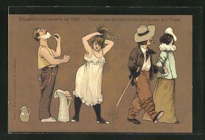 Künstler-AK Albert Guillaume: Paris, Exposition universelle de 1900, Theatre des Bonshommes Guillaume