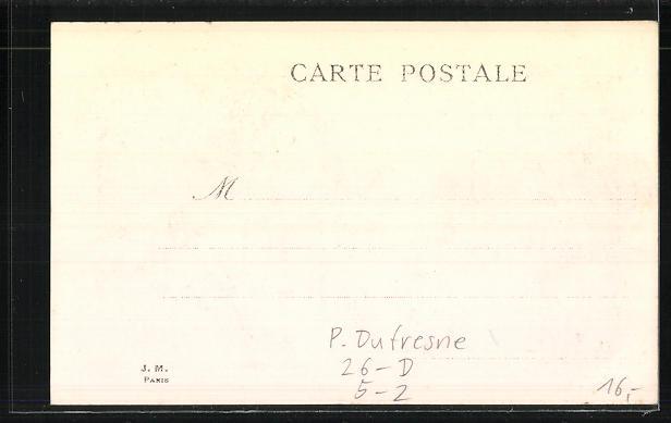 Künstler-AK sign. P. Dufresne: Byzance, La Coiffure de l'antiquite a nos Jours im Jugendstil 1