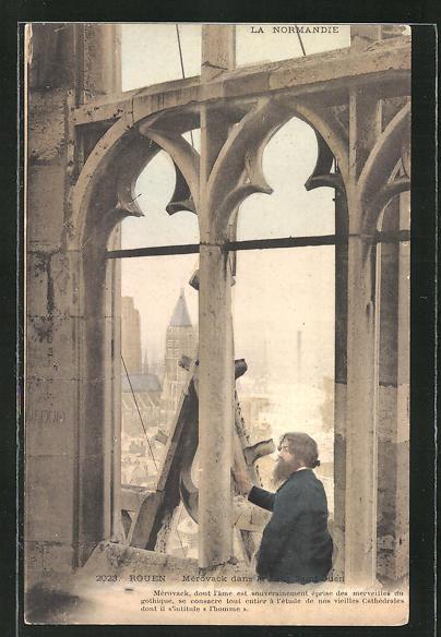 Künstler-AK sign. Mérovack: Rouen, Mérovack dans la Tour Saint Ouen