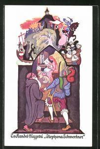 Künstler-AK Edo v. Handel-Mazzetti: Stephana Schwertner