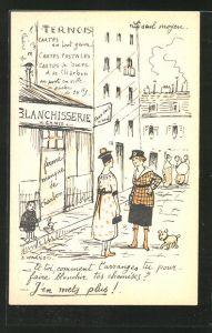 Künstler-AK sign. A. Warnod: Ternois, Frauen vor der Blanchisserie