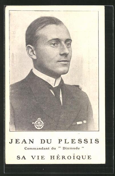 AK Zeppelin-Pilot Jean du Plessis des Schiffes