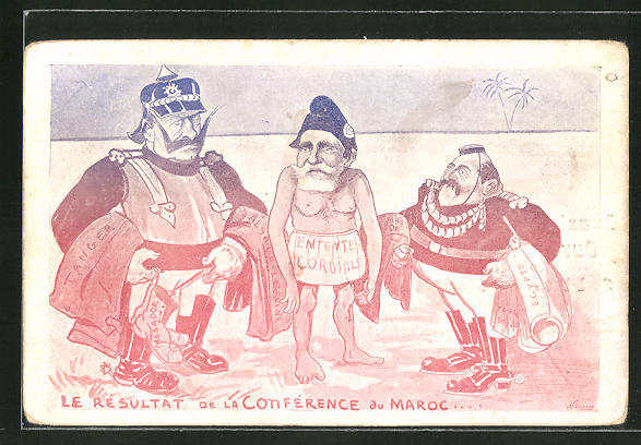 AK Le Resultat de la Conférence du Maroc... Kaiser Wilhelm II. Karikatur, Marokkokrise