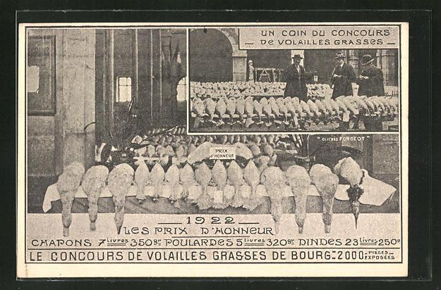 AK Bourg, Wettbewerg dickstes Geflügel im Jahr 1922