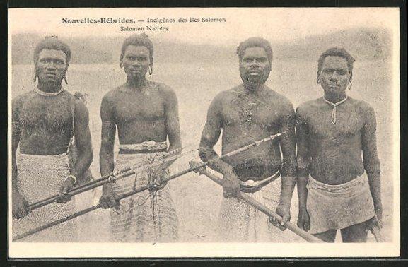 AK Nouvelles-Hebrides, Indigenes des Iles Salomon, Salomon Natives
