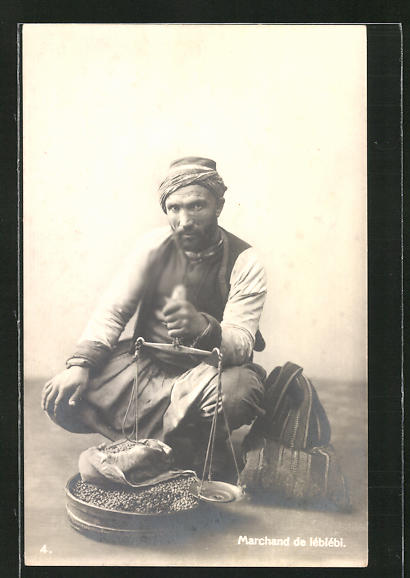 AK Marchand de leblebi, türkischer Händler mit gerösteten Kichererbsen