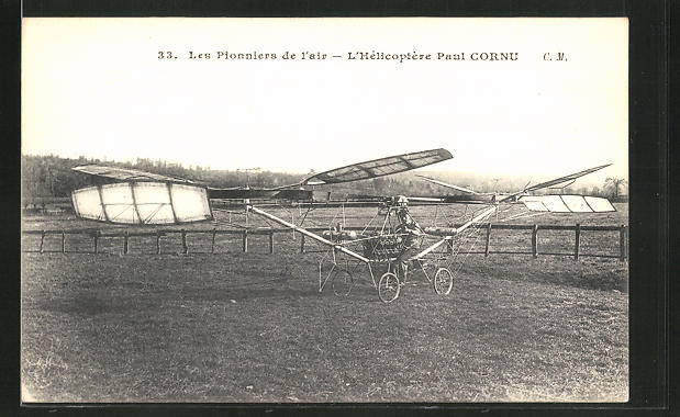 AK L'Hélicoptère Paul Cornu, Hubschrauber