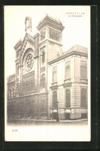 AK Brüssel / Bruxelles, La Synagogue, Rue de la Regence, Ansicht der Synagoge