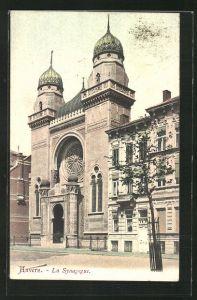 AK Anvers, La Synagogue, Rue des Architectes, Ansicht der Synagoge