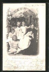 AK Zar Nikolaus II. von Russland mit seiner Familie
