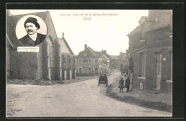 AK Criel, Circuit de la Seine-Inférieure, Comte-Poierre d'Hespel Automobile Corre, Autorennen
