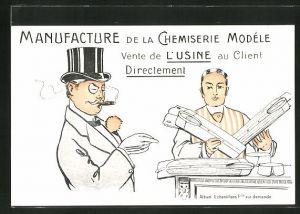 AK Manufacture de la Chemiserie Modele Vente de l'Usine au Client Directement, Reklame Herrenhemden